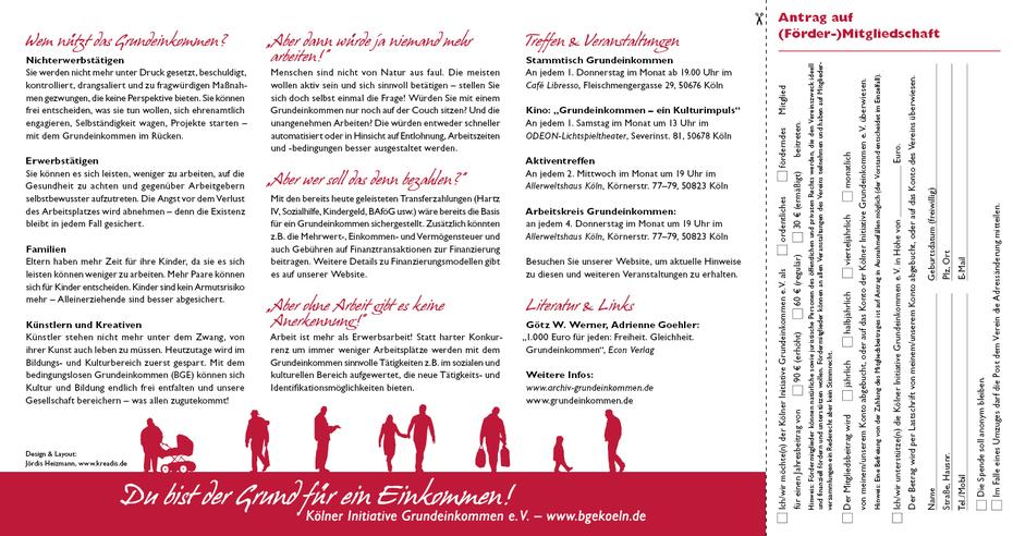 Faltblatt – Innen