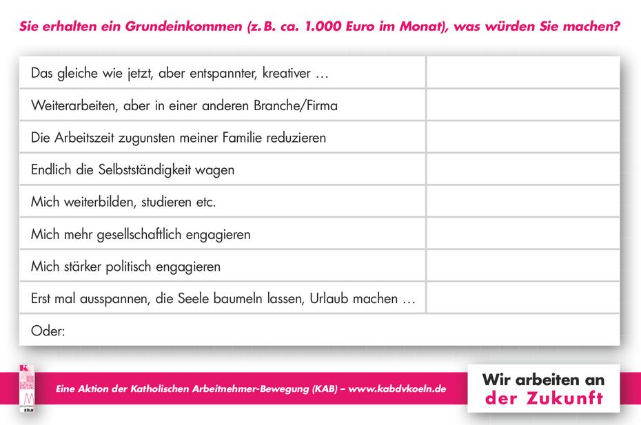 Bodenzeitung für die KAB Köln