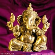 Ganesha Messing Statue bei Lichterleben.com
