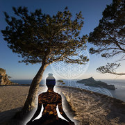 Meditation Mallorca Blume des Lebens