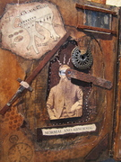"""""""repair is a process"""" assemblage altered book"""