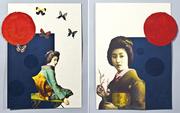 2 Geisha collages
