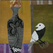 Bird with Tall Vase