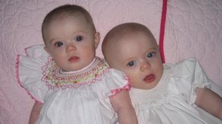 Anna Elise and Sidney Kate Poole   6 months