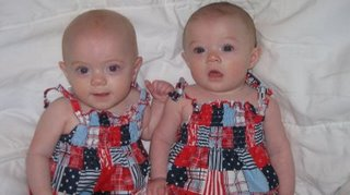 Sidney Kate and Anna Elise Poole  5 months
