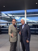 Mr Prajith and Mr Rafael in New York and Icing On The Cake