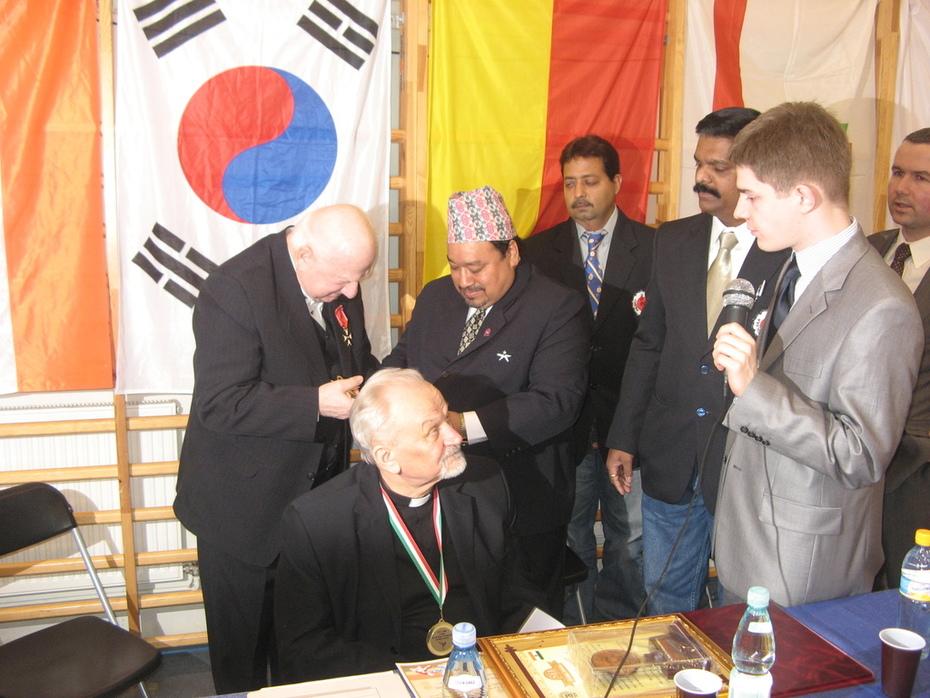 G.M.SOKE JAGDISH WITH SR.G.M. SOKE JAN ROMAN BRAUN,POLAND