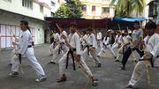 Kobudo Stick-fighting Training