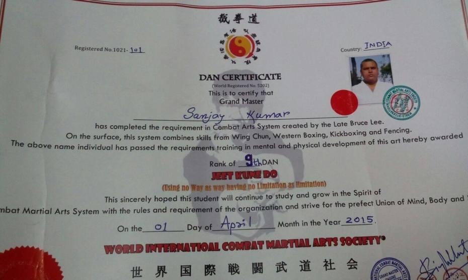 WICMAS - Jeet Kune DO Certificates