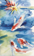 water color study Koi2