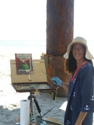 Painting the pier...beautiful day!