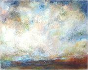 Gefühlte Landschaft VII, Mischtechnik, H 80 x B 100 cm, Leinwand auf Keilrahmen