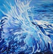 LEONI A. Jäkel, Spirit of Water, 50 x 50 cm, Öl auf Leinwand