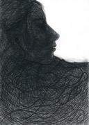Illustration für Kurzgeschichte:Zwei_Welten_grafit_A4