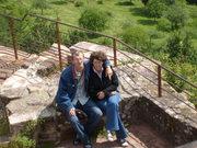 Kedvesemmel a Fleckensteini vár fokán