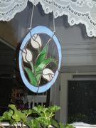 Tulipán Tiffany ablakdísz