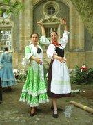 Marcsi egy flamencotáncossal