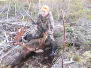 ADAM & HIS FIRST MOOSE  280 YARD SHOT WITH A 270