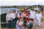 Crawfords and prayer team in Costa Rica