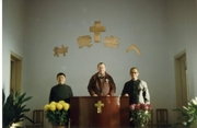 Dr Dan speaking at the Pinglai Church in China - the church of Lottiie Moon