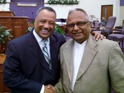 With former SBC President Fred Luter