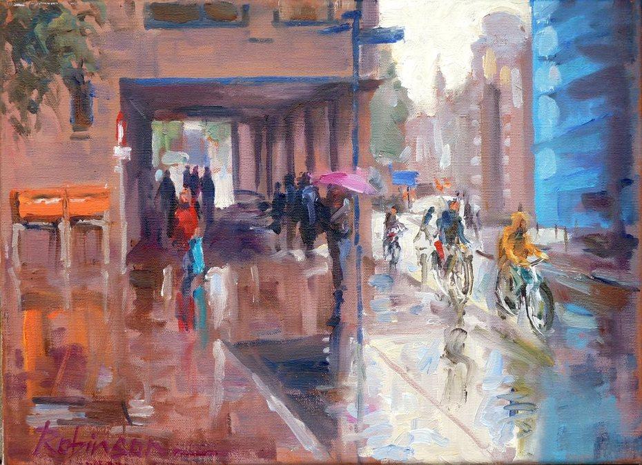 Rainy Day at the Rabo Bank, Den Bosch.