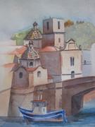 painting sardinia bosa