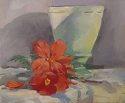 Glass and Begonia