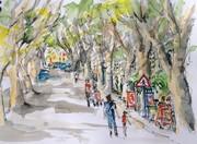 Street scene, Olargues