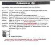 Spanish translation homework