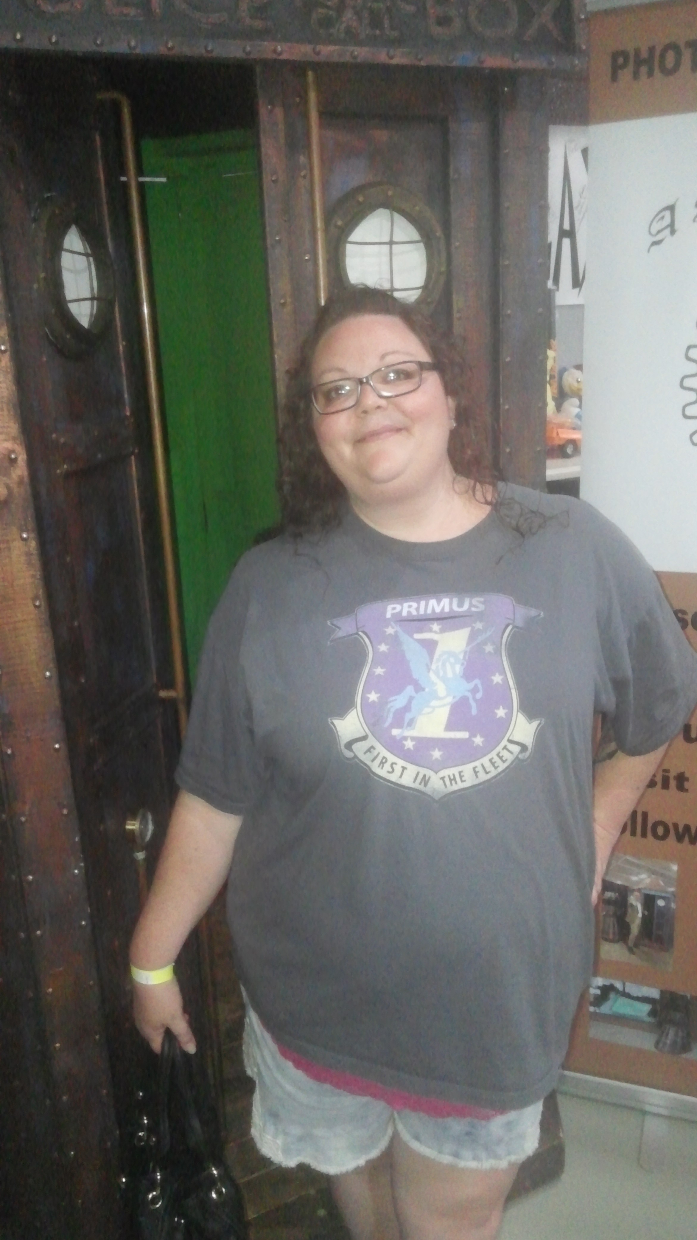 Fran (Notice the shirt)