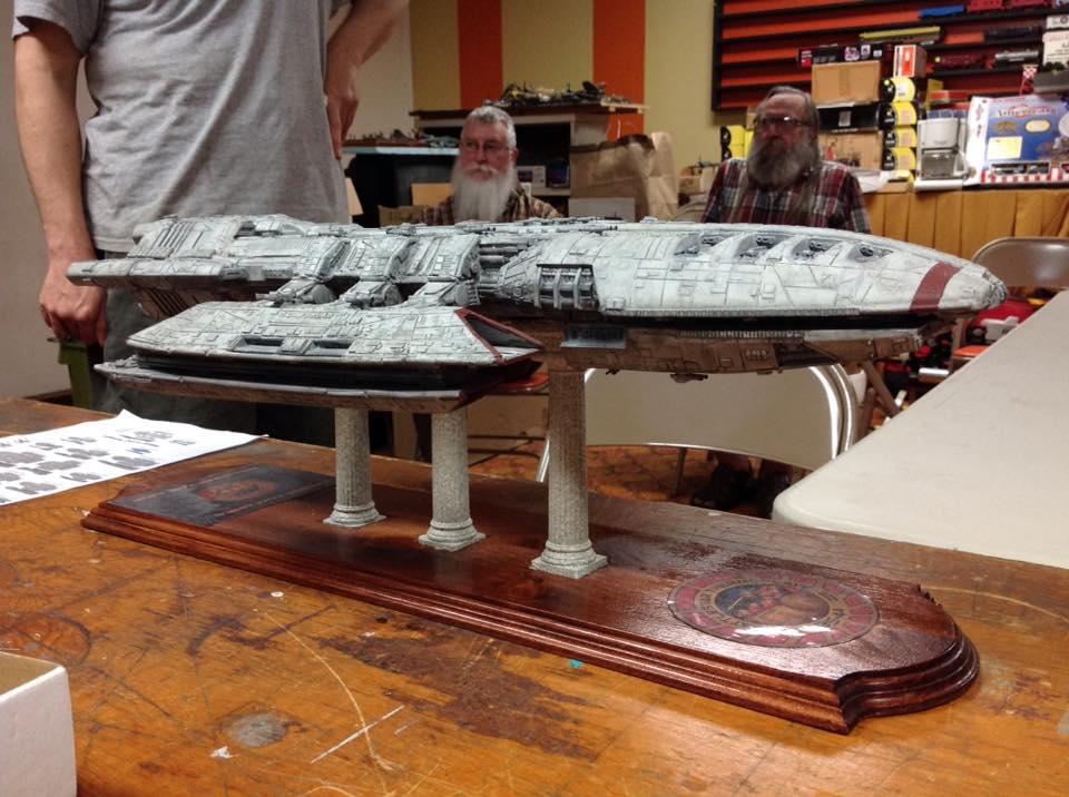 Battlestar Thermopylae model