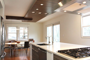open kitchen with custom ceiling V-2