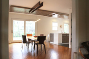 open kitchen with custom ceiling V-3