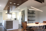 open kitchen with custom ceiling V-1