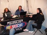 Amber on Sirius Radio at Daytona 3 With Suzy and Dave