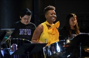 Dr.  Mia Gormandy-Benjamin captures New York delivering a command performance with NYU Steel at the ensemble's annual Spring concert, 2019