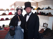 Abe and his wife