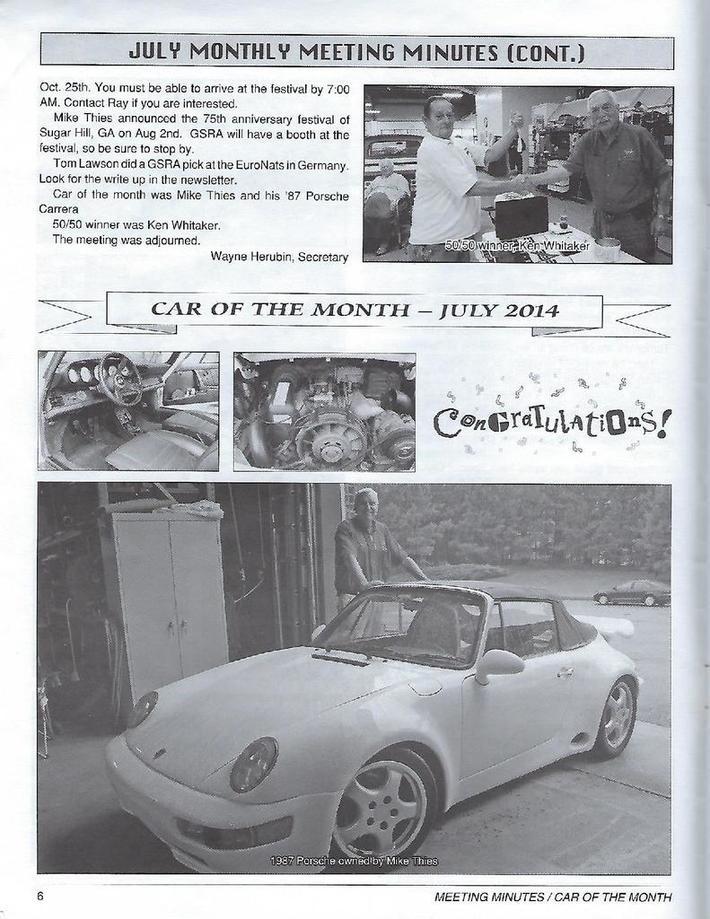 GSRA Car of the Month - 1987 Porsche Carrera Cabriolet