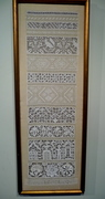 My needle lace sampler dated 2000