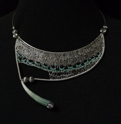 wire needle lace necklace