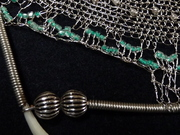 wire needle lace necklace idetail