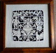 needle lace taken from a 16 century bedspread.