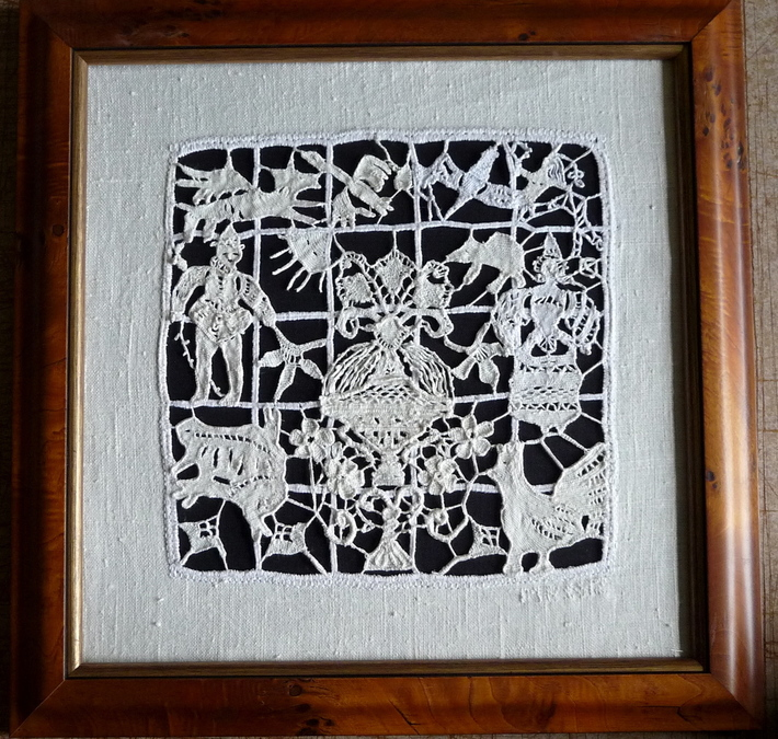 needle lace taken from a 16 century bedspread.