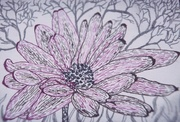 Pink Daisy with Branches
