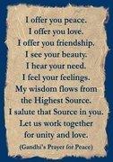 Gandhi Ji's Prayer for Peace