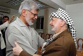 Arun Gandhi and Yasser Arafat