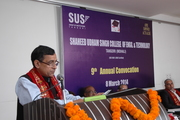 Delivering convocational address as the Chief Guest of the ninth convocation of the SUSCET, Mohali (Punjab), India on March 8, 2014