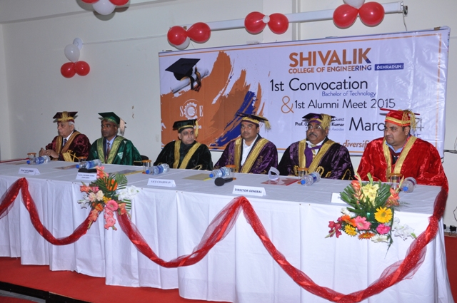 Ravindra Kumar addresses the new graduates as the Chief Guest at the First Convocation of the Shivalik, Dehradun (India) on March 4, 2014 5