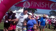 Barbara Patterson and Family at the Finish Line
